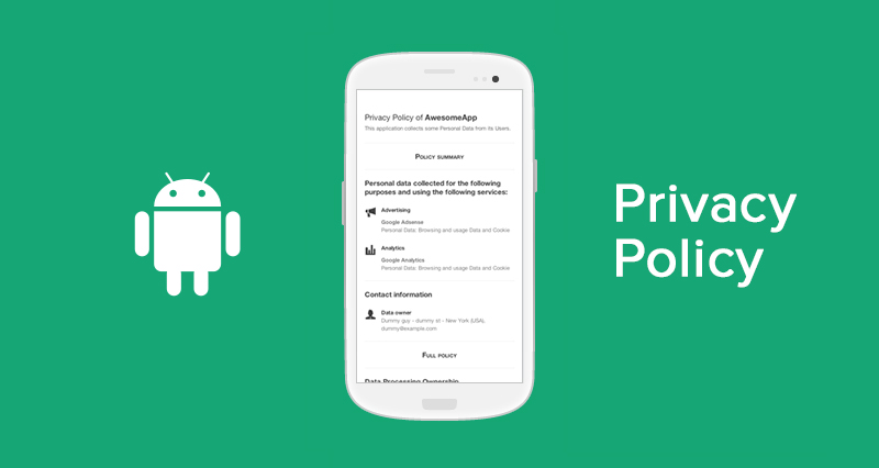 Android apps privacy policy