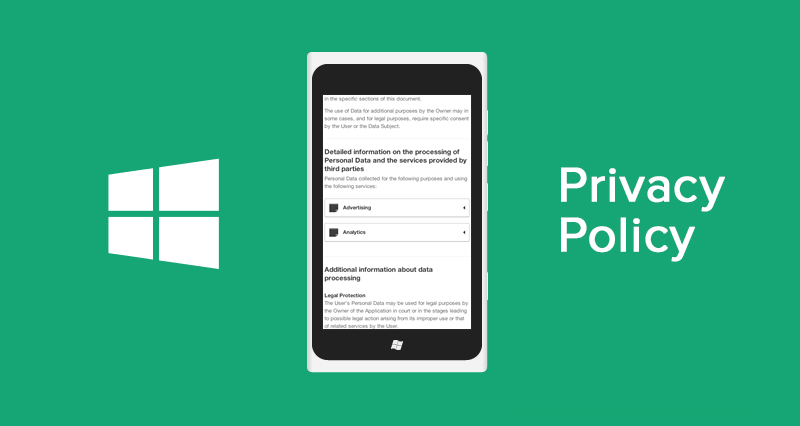 Privacy Policy for Windows Phone Apps Template and Guide – Privacy Policy Sample Template